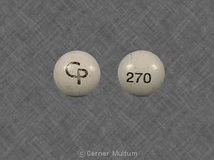 Image 1 - Imprint CP 270 - thioridazine 200 mg
