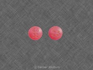 Imprint GG 32 25 - thioridazine 25 mg