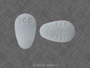 Imprint GILEAD 4331 300 - Viread 300 mg