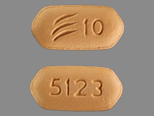 Imprint 5123 Logo 10 - Effient 10 mg