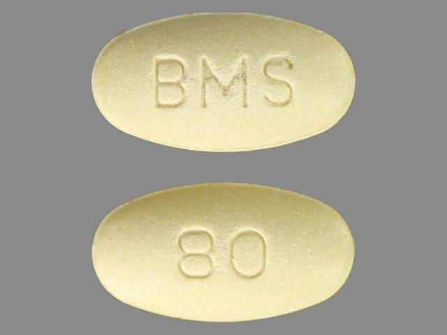 Imprint BMS 80 - Pravachol 80 mg
