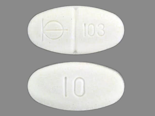 Imprint BM 103 10 - Demadex 10 mg