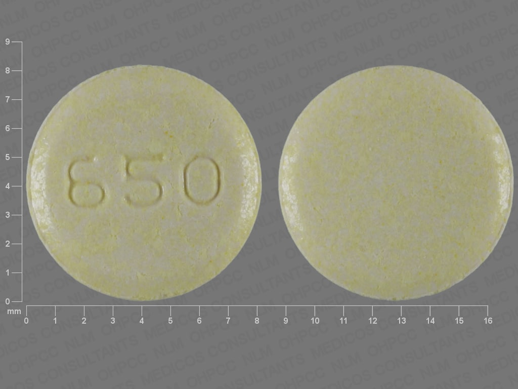 Imprint 650 - Sinemet 25 mg / 100 mg