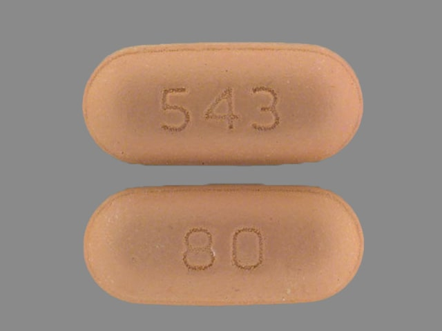 Imprint 543 80 - Zocor 80 mg