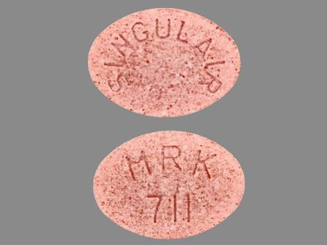 Imprint SINGULAIR MRK 711 - Singulair 4 mg