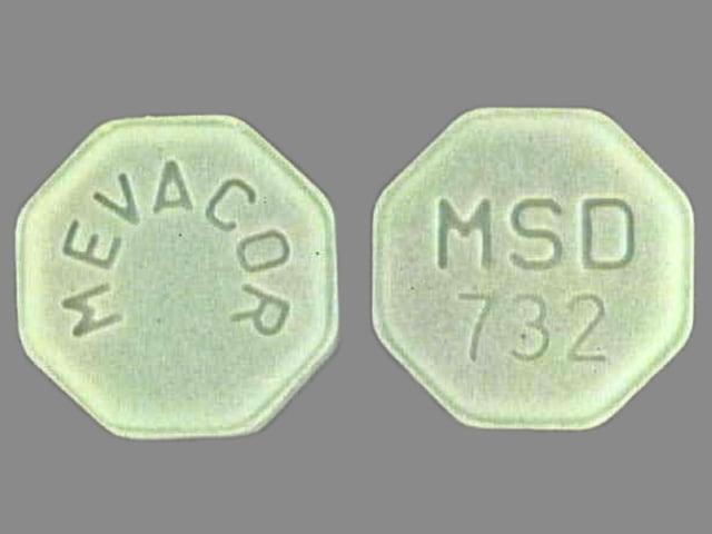 Imprint MEVACOR MSD 732 - Mevacor 40 mg