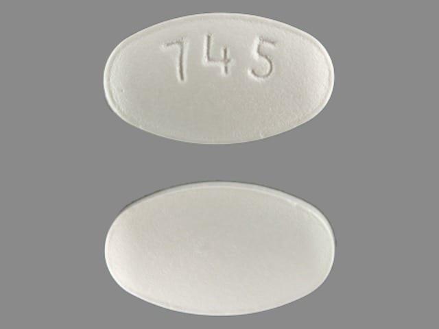 Imprint 745 - Hyzaar 12.5 mg / 100 mg