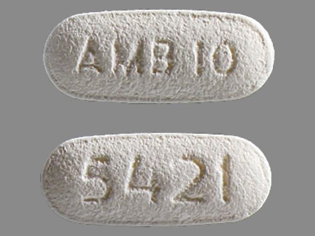 Imprint AMB 10 5421 - Ambien 10 mg