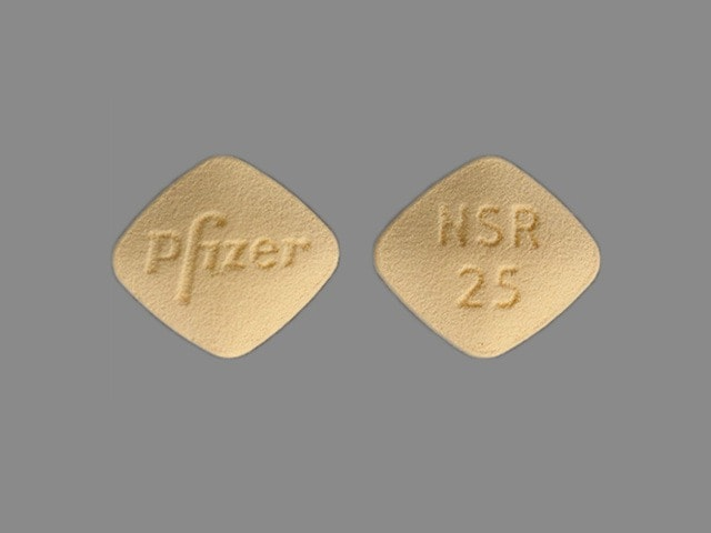 Imprint Pfizer NSR 25 - Inspra 25 mg