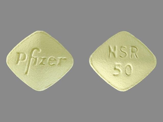 Imprint Pfizer NSR 50 - Inspra 50 mg