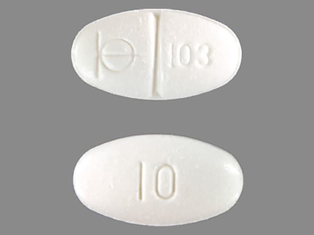 Imprint Logo 103 10 - Demadex 10 mg
