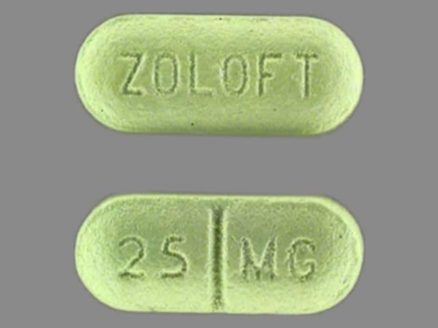 Imprint ZOLOFT 25 MG - Zoloft 25 mg