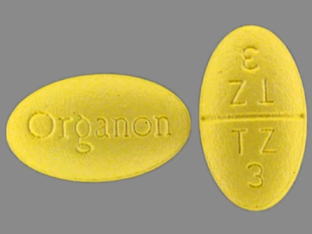 Imprint Organon TZ 3 - Remeron 15 mg