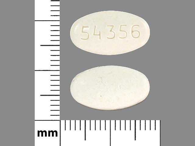 Imprint 54 356 - valacyclovir 500 mg