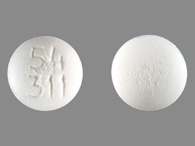 Imprint 54 311 - acarbose 25 mg