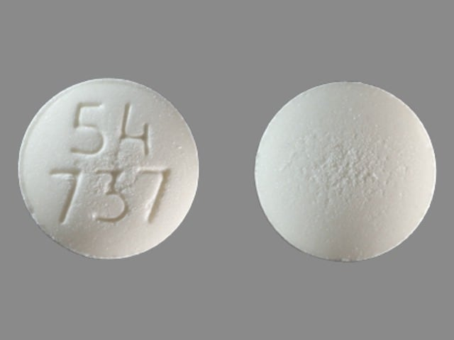 Imprint 54 737 - acarbose 50 mg