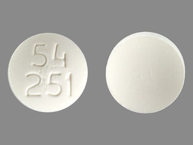 Imprint 54 251 - acarbose 100 mg