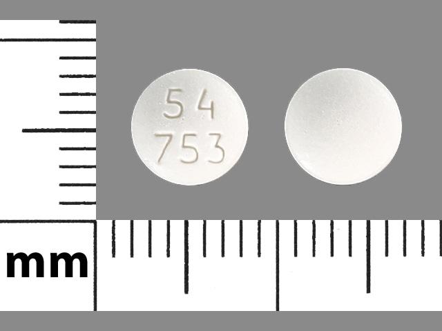 Imprint 54 753 - letrozole 2.5 mg