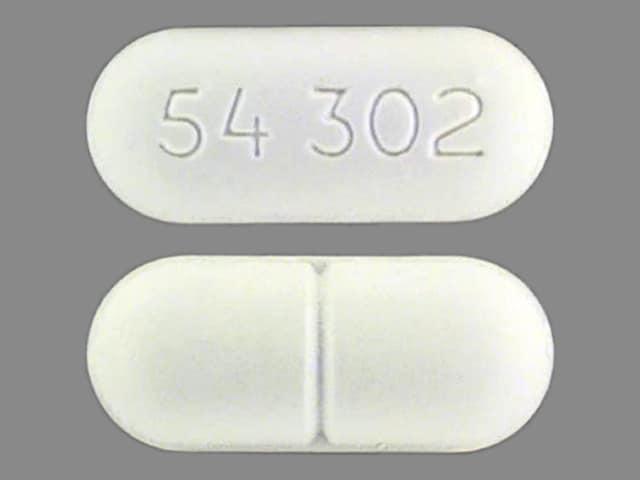 Imprint 54 302 - calcium carbonate 1250 mg