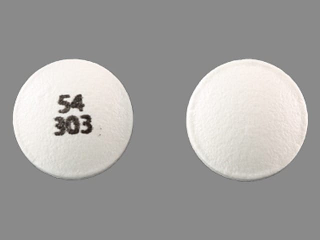Image 1 - Imprint 54 303 - propantheline 15 mg