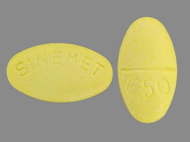 Imprint SINEMET 650 - Sinemet 25 mg / 100 mg