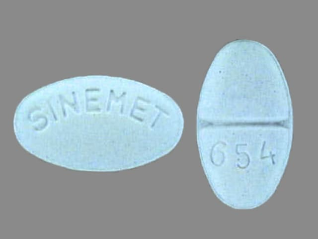 Imprint SINEMET 654 - Sinemet 25 mg / 250 mg