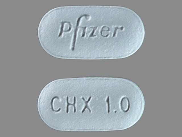 Imprint Pfizer CHX 1.0 - Chantix 1 mg