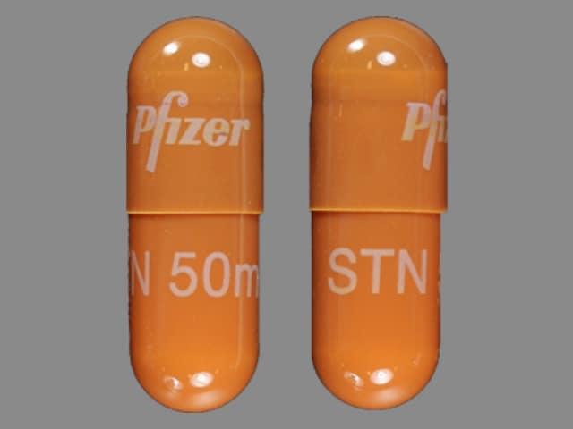 Imprint Pfizer STN 50 mg - Sutent 50 mg