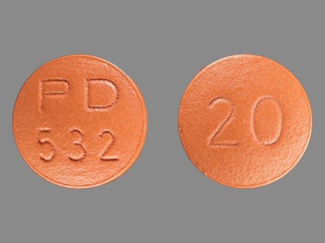 Image 1 - Imprint PD 532 20 - Accupril 20 mg