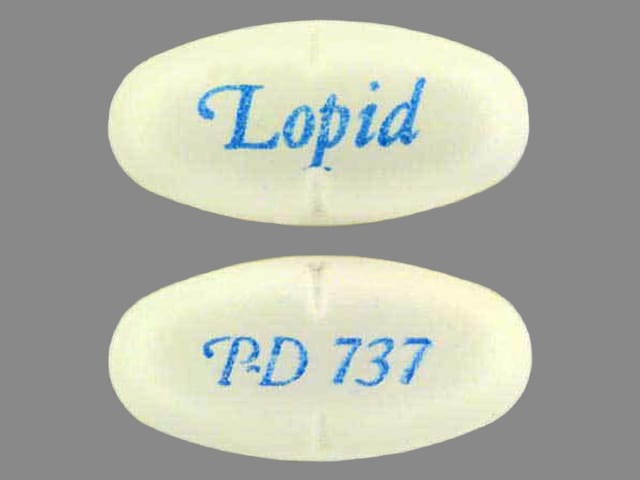 Imprint Lopid P-D 737 - Lopid 600 mg