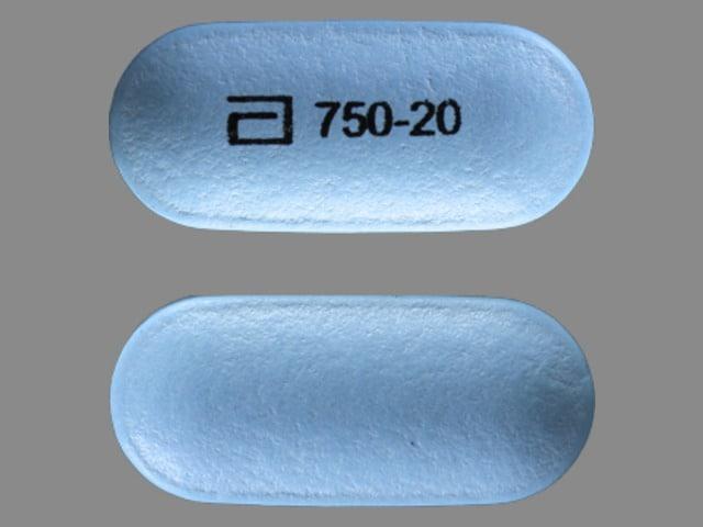 Imprint a 750-20 - Simcor 750 mg / 20 mg