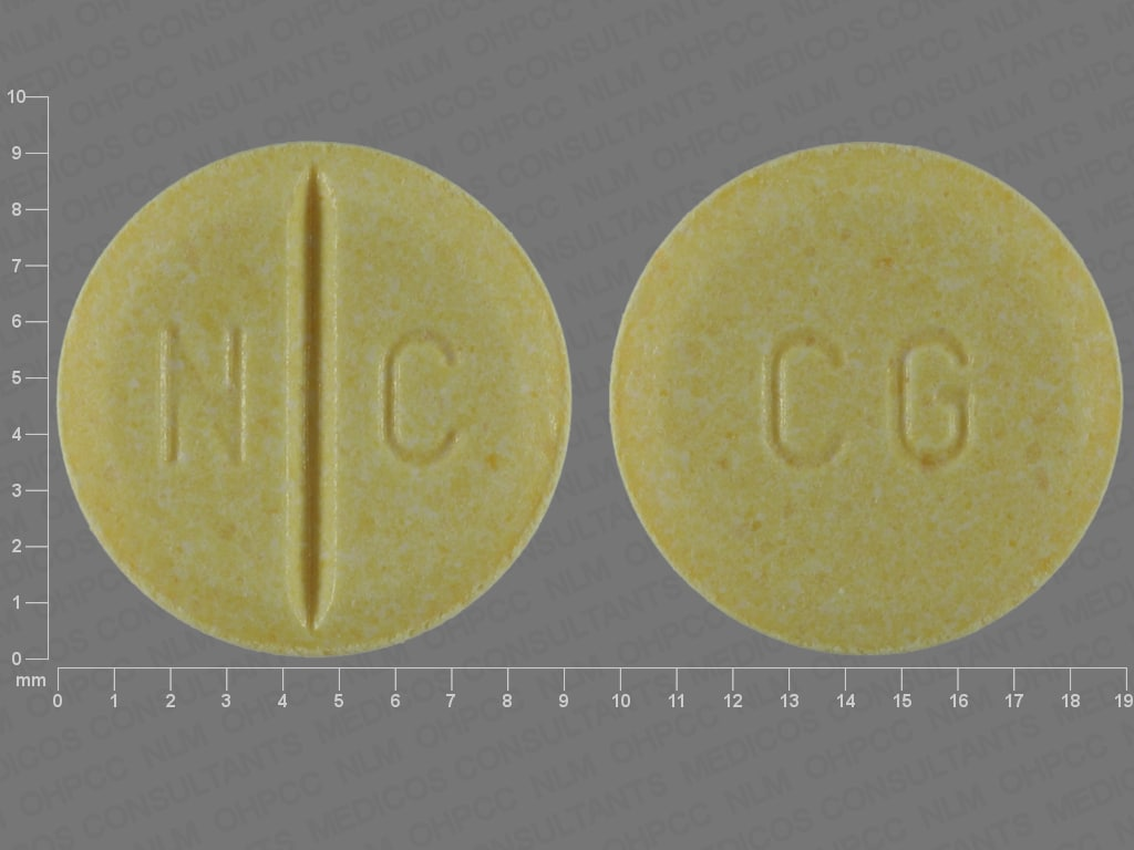 Imprint N C CG - Coartem artemether 20mg / lumefantrine 120mg
