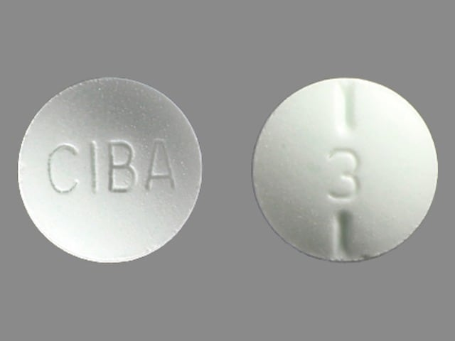 Imprint CIBA 3 - Ritalin 10 mg