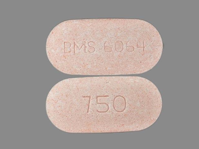 Image 1 - Imprint BMS 6064 750 - Glucophage XR 750 mg