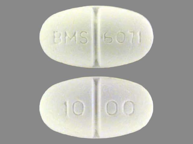 Image 1 - Imprint BMS 6071 10 00 - Glucophage 1000 mg