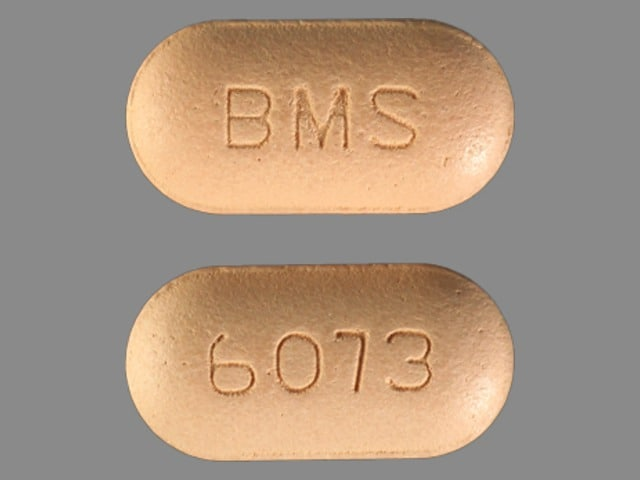 Image 1 - Imprint BMS 6073 - Glucovance 2.5 mg / 500 mg
