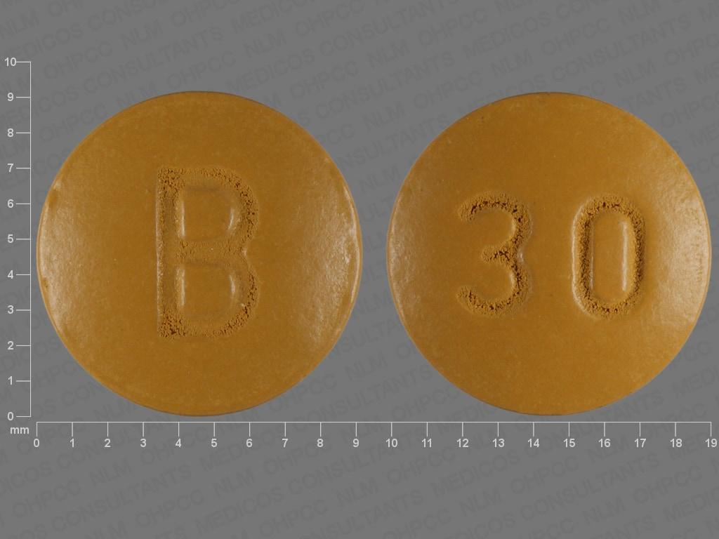Imprint 30 B - nifedipine 30 mg