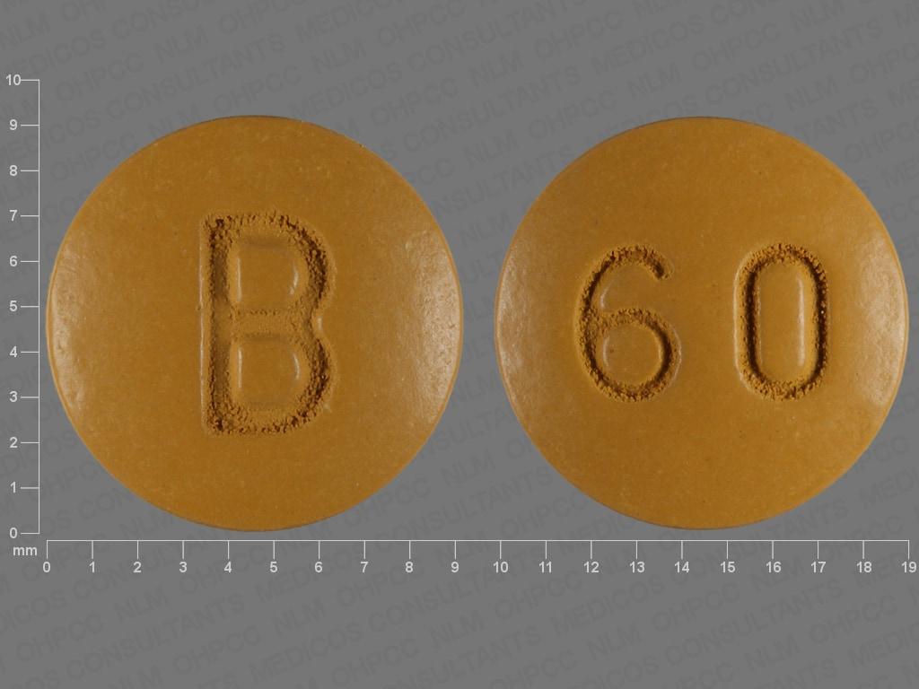 Imprint 60 B - nifedipine 60 mg