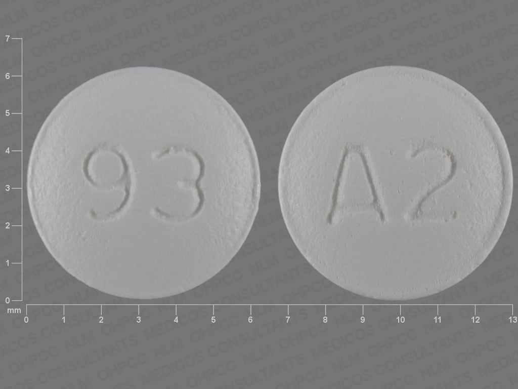 Imprint 93 A2 - almotriptan 12.5 mg (base)