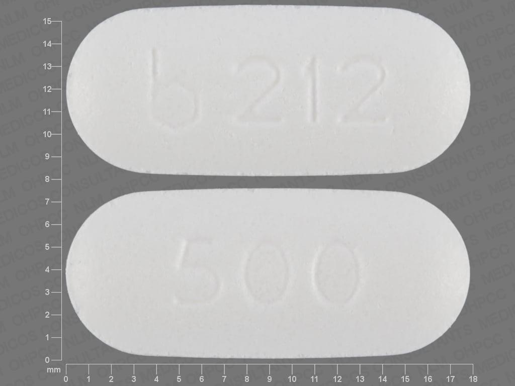 Imprint b 212 500 - niacin 500 mg