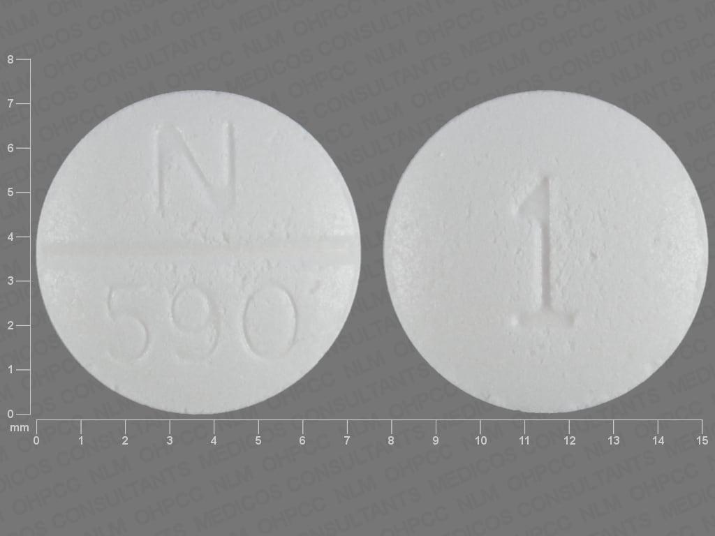 Imprint N 590 1 - doxazosin 1 mg
