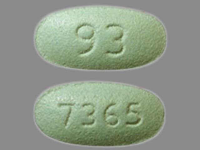 Image 1 - Imprint 93 7365 - losartan 50 mg