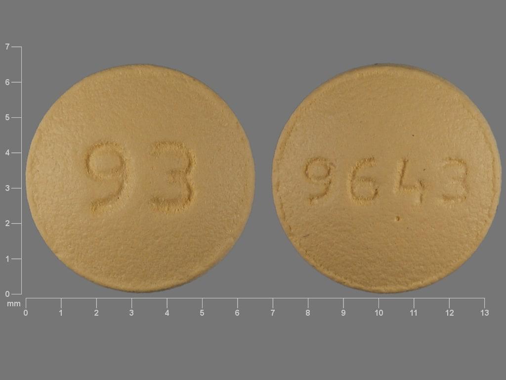 Imprint 93 9643 - prochlorperazine 5 mg