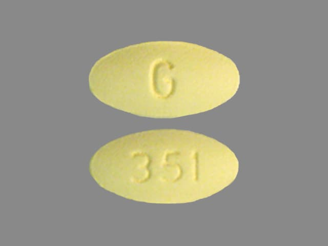 Imprint G 351 - fenofibrate 54 mg