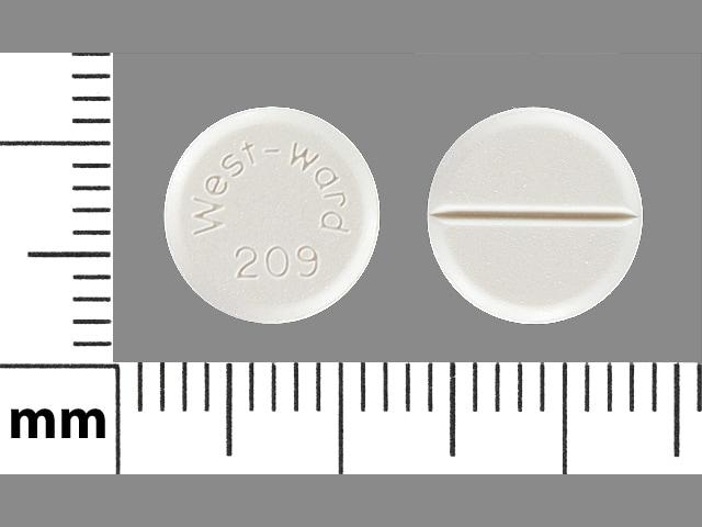 Imprint West-ward 209 - chlorothiazide 250 mg