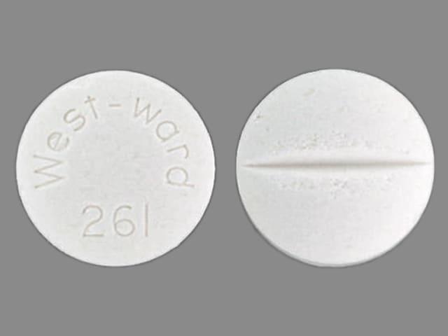 Image 1 - Imprint West-ward 261 - isoniazid 300 mg