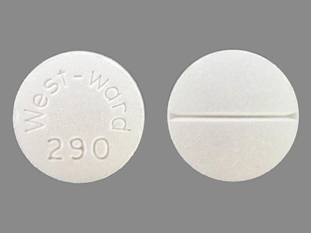 Image 1 - Imprint West-Ward 290 - methocarbamol 500 mg