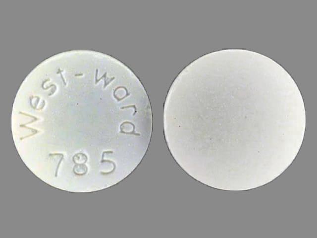 Imprint West-ward 785 - aspirin/butalbital/caffeine 325 mg / 50 mg / 40 mg