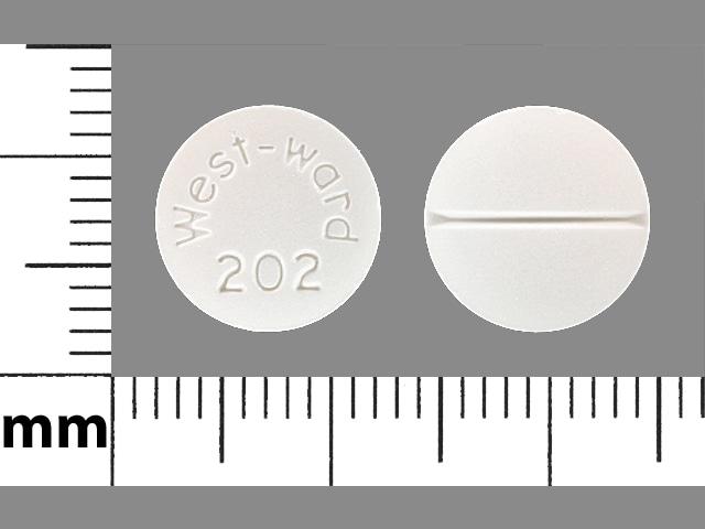 Imprint West-ward 202 - cortisone 25 mg