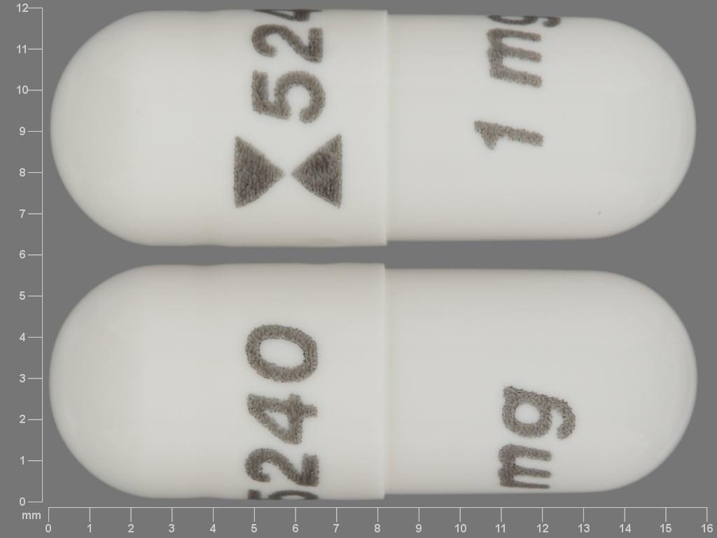 Imprint logo 5240 1 mg - anagrelide 1 mg